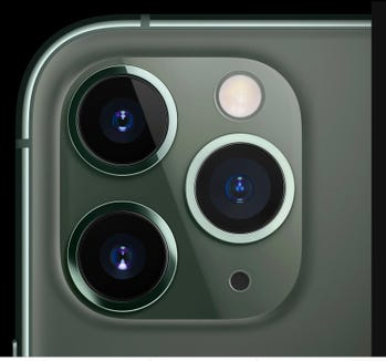 The three lenses of the iPhone 11 Pro models