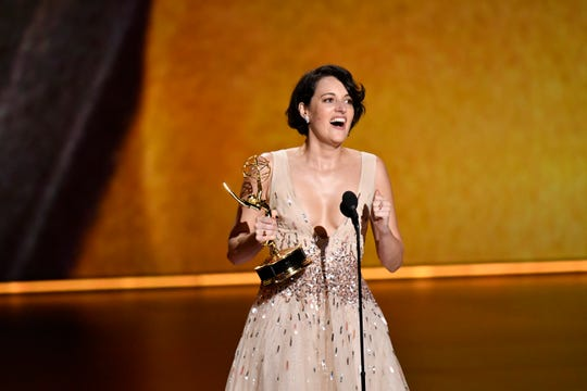 "Phoebe Waller-Bridge won Emmys for best writing and lead actress for ""Fleabag,"" which also was named best comedy."