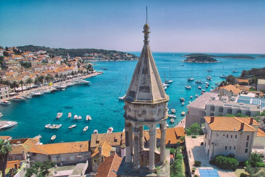 Travelers who complete the uphill trek to Tvrdava Fortica are rewarded with sweeping views of Hvar and the Pakleni Islands.