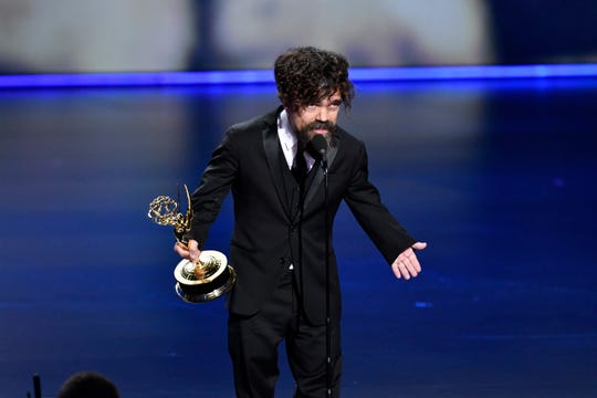 "Peter Dinklage won supporting actor in a drama, one of two Emmy wins for ""Game of Thrones."" The HBO fantasy also took best drama."