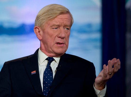 Republican presidential candidate and former Massachusetts Gov. Bill Weld speaks during the Climate Forum at Georgetown University, Friday, Sept. 20, 2019.