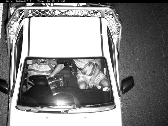 This Jan. 18, 2019, photo captured by a Mobile Phone Detection Camera and released by Transport for NSW shows a driver using a mobile phone while driving in Australia.
