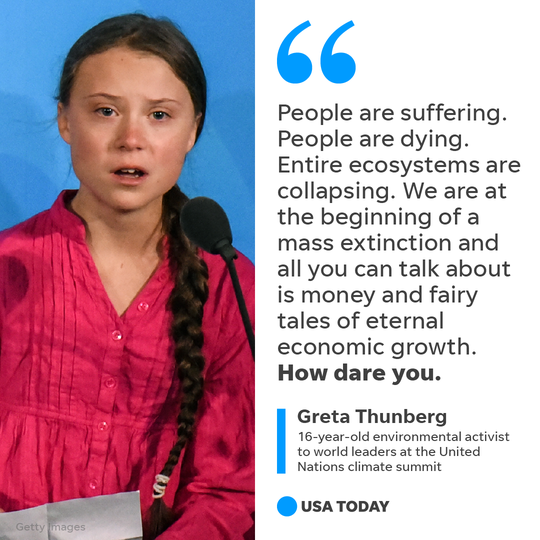 Young activist Greta Thunberg delivered harsh words to the world's leaders at the start of the U.N. Climate Action Summit on Monday.