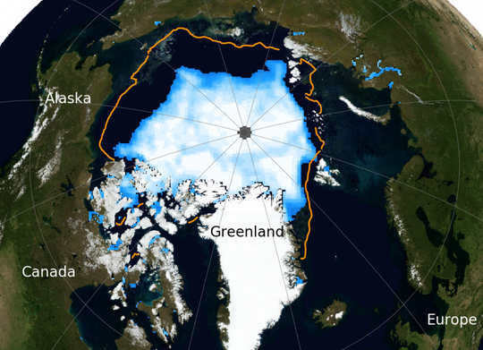 Arctic sea ice shrinks to 2nd-lowest mark on record