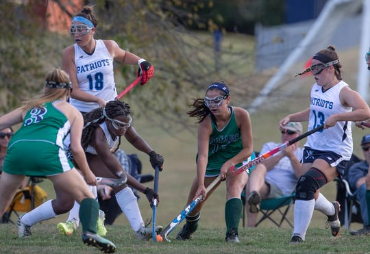 Colts Neck Girls Field Hockey vs Freehold Township in Freehold Township on September 24, 2019.