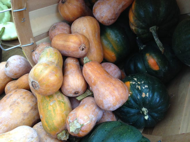 One of the things to look forward to with fall produce is different squash varieties, including tasty and easy to cook acorn, butternut and spaghetti squashes.