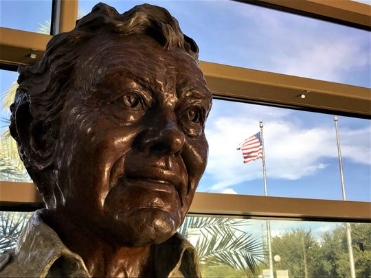A bronze bust of FLORIDA TODAY and USA TODAY founder Al Neuharth has adorned the lobby of FLORIDA TODAY since the flagship building on U.S. 1 opened in 1986.