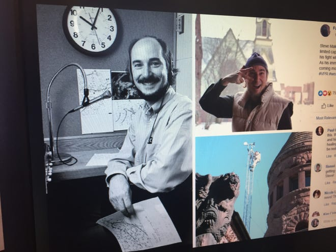 The Fairbanks Museum and Planetarium in St. Johnsbury shared these photos of staff meteorologist Steve Maleski as they announced on Facebook that he was in remission from cancer and expected to return to work.