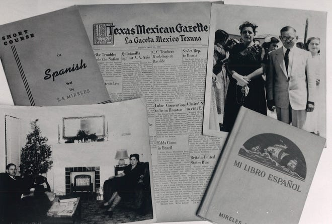 A sample of items from the E. E. Mireles and Jovita Gonzalez Mireles papers housed in Texas A&M University-Corpus Christi's special collections and archives. The collection was donated in 1992.