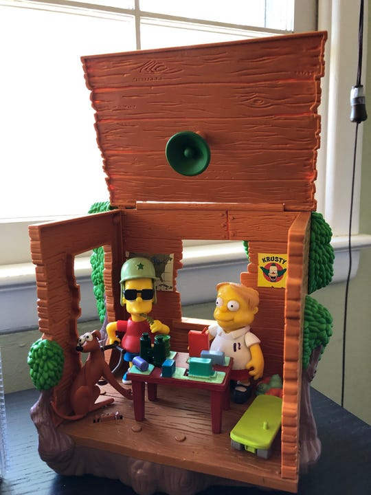 Chris Lauria says he's meticulous about details when he designs collectibles such as this 'Simpsons' play set.