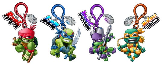Turtle power! The '90s icons are back in these keychains designed by Chris Lauria.