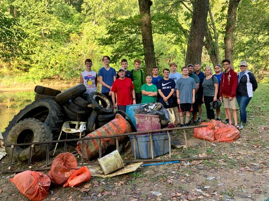 Local Boy Scout Troop 14 partnered with state and local agencies to assist in the cleanup of Paint Creek over the weekend.