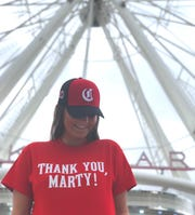 The first 500 SkyStar riders on Thursday, Sept. 26, will receive free T-shirts in honor of Marty Brennaman's last broadcast for the Cincinnati Reds.