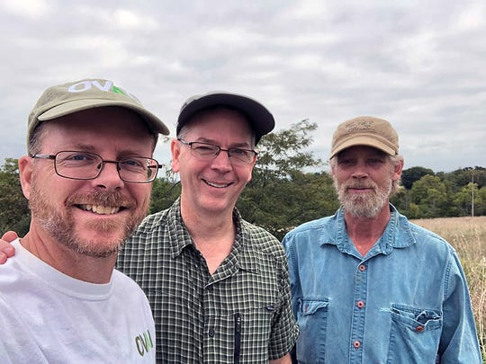 Jarrod Burks, Dr. Jeffrey Leipzig, and Ted Sunderhaus are all working toward preserving Fortified Hill for future generations.
