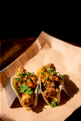Django Western Taco on the second floor of Kroger on the Rhine offers fried chicken tacos.