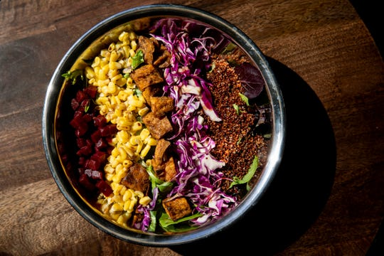 """Kroger's own Kitchen 1883 Cafe & Bar on the second floor of Kroger on the Rhine offers a """"colorfall"""" salad."""