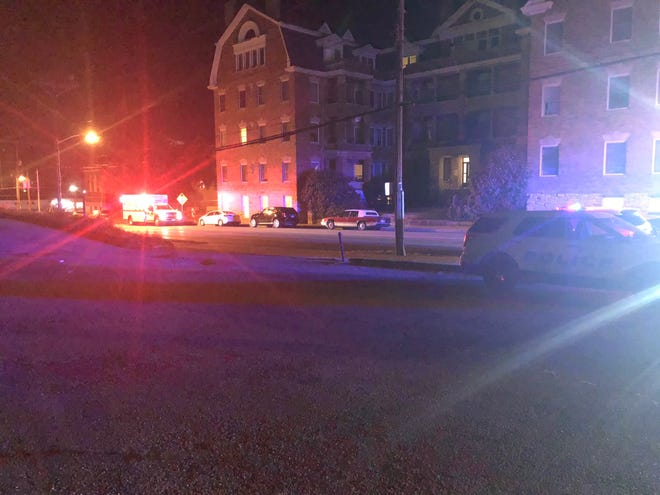 Cincinnati police and fire crews respond to a report of a stabbing in Walnut Hills early Tuesday.