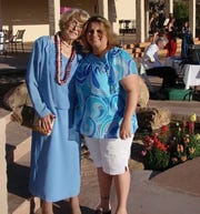 Mary Bartlett, left, and Debbie Pickworth pose for a photo together in April 2008. Mary Bartlett died in November 2010 of lung cancer at the age of 84. Three years later, Debbie Pickworth was diagnosed with the same disease.