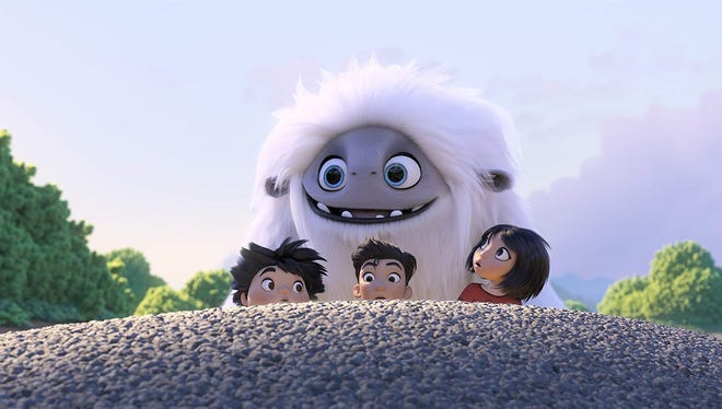 """In """"Abominable,"""" youngsters set out to reunite a Yeti with his family."""