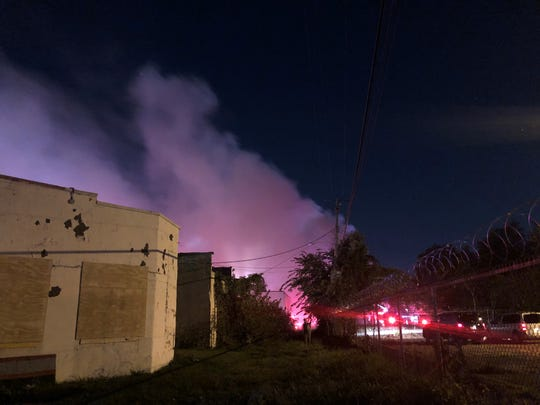 Smoke billows from a Sept. 23 fire at East Side Detroit Elderly. Four were injured in the raging fire, which left no fatalities.