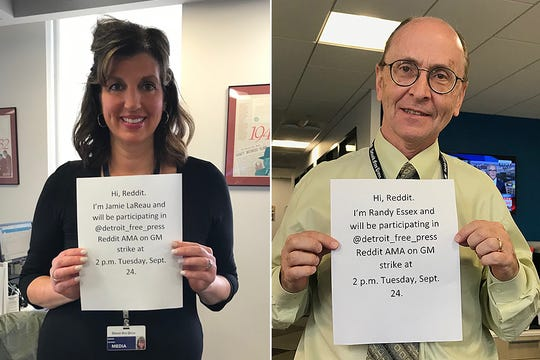 Jamie LaReau and Randy Essex from the Free Press autos team will answer questions at 2 p.m. Tuesday in a Reddit AMA about the GM strike.