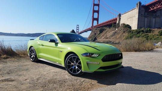 The 2020 Ford Mustang HiPo upgrades the base pony car to a 330-horsepower turbo-4, adding a stiffer suspension and bigger brakes for wicked performance for under $40K.