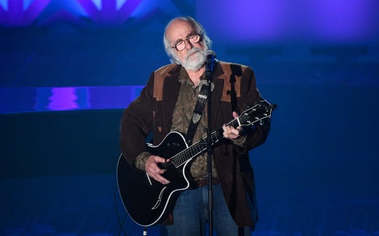 This June 18, 2015 file photo shows Robert Hunter at the 46th Annual Songwriters Hall Of Fame Induction and Awards Gala in New York. Hunter, the man behind the poetic and mystical words for many of the Grateful Dead's finest songs, died  Sept. 23, 2019, at his Northern California home, according to Grateful Dead drummer Mickey Hart. He was 78.