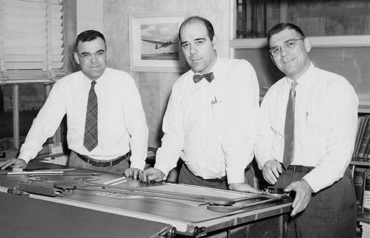 Aviation-obsessed brothers Paul A., left, Ernest and Bill Schweizer founded Schweizer Aircraft in Big Flats in 1939.