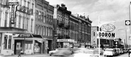 Fremont's Front Street in the 1950s.