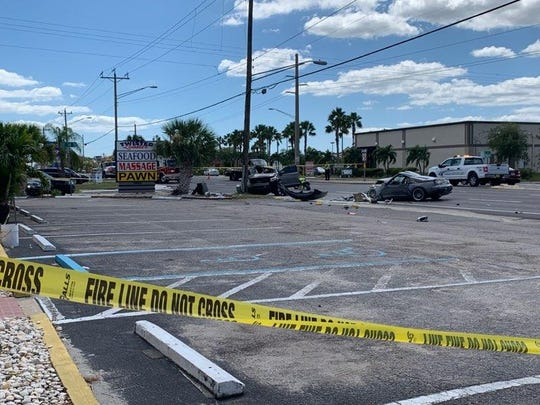 Two drivers were seriously injured in a crash in the  1400 block of Del Prado Boulevard South, Cape Coral, police said. The crash happened about 1 p.m. Tuesday, Sept. 24, 2019, and closed the south lanes for hours.