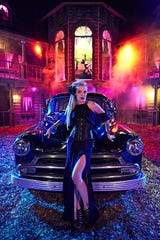 Terror on the Fox provides the backdrop for a portrait featuring model Lola Shift and a 1951 Chevrolet Styleline owned by Christopher Quezada.