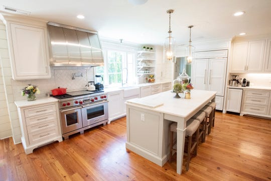 The kitchen in Angel Tollison's home