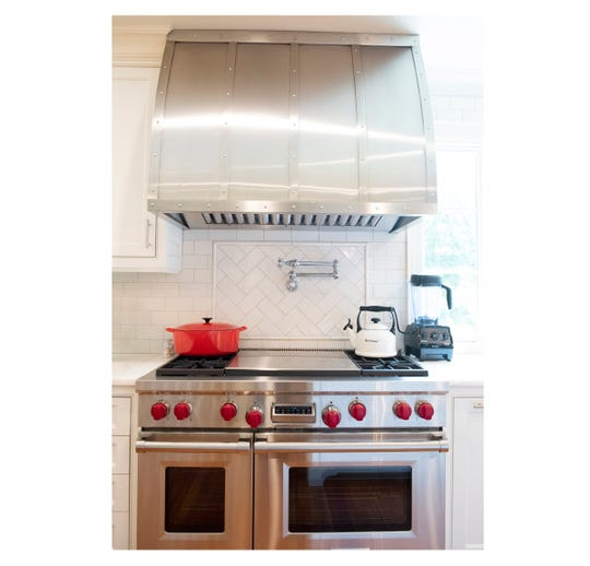 Stove and hood in the kitchen