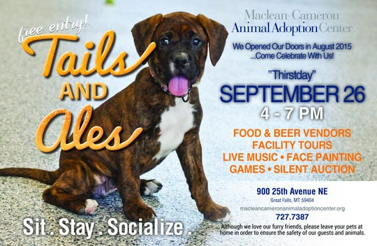 This Thursday, the Maclean-Cameron Animal Adoption Center will host its 3rd annual Tails and Ales event.