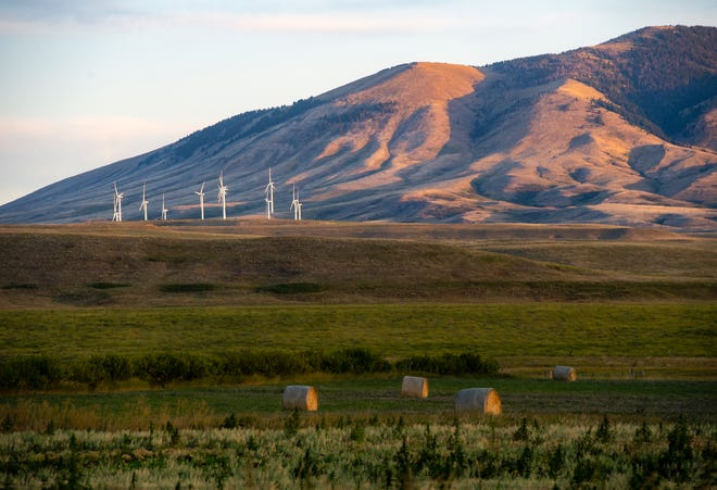 Summer was officially over on Monday, but there will be no doubt this weekend as temperatures are expected to plummet and the snow fly across the region. Here, Spion Kop wind farm near Geyser is bathed in sunshine earlier this week.