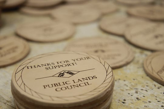 Griz Biz North Middle School students designed and created 150 coasters for the Public Lands Council