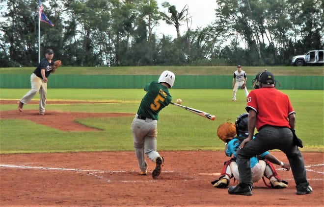 Recent action from the Guam Amateur Baseball League at the LeoPalace Resort Baseball Field