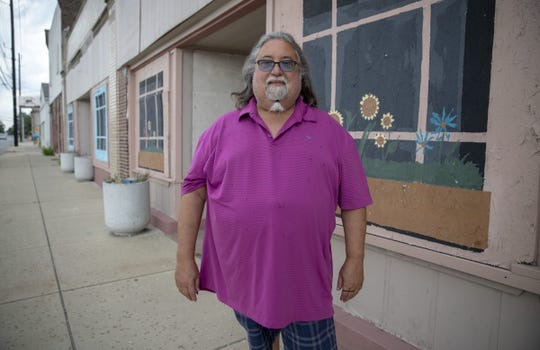 Bryan Fonseca stands in front of the building that the Fonseca Theatre Company bought on Indy's west side. The theater is in the process of being renovated.