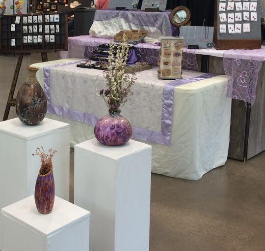 A picture taken by artist Laura McGarvey of some of the material she sells at events like the Holiday Thieves Market.
