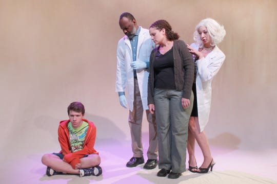 "Cast members of ""The Shoe,"" at the Cherry Artspace from Thursday through Oct. 6."