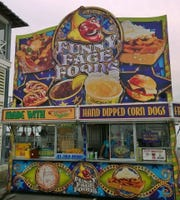 Funny Face Foods based out of Canton has all the greasy fair food you'll ever want. They will set up shop at the Food Truck Mash Up on Saturday, Sept. 28.