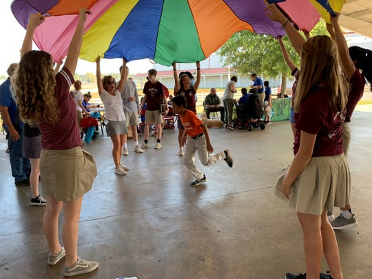 Champion's Day is an annual event for Jackson-Madison County and surrounding area students with special needs to enjoy a day of fun, games and activities at the Jackson Fairgrounds