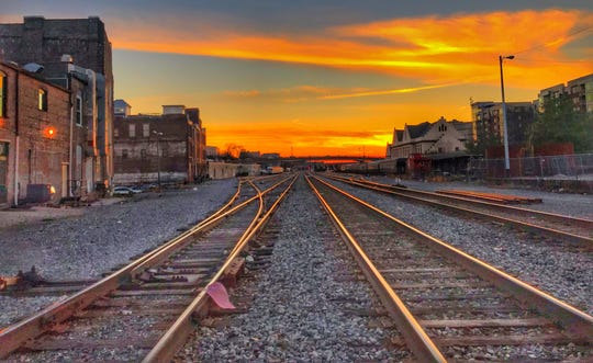 Railroad tracks find their way into a small town Bob Longmire visited.