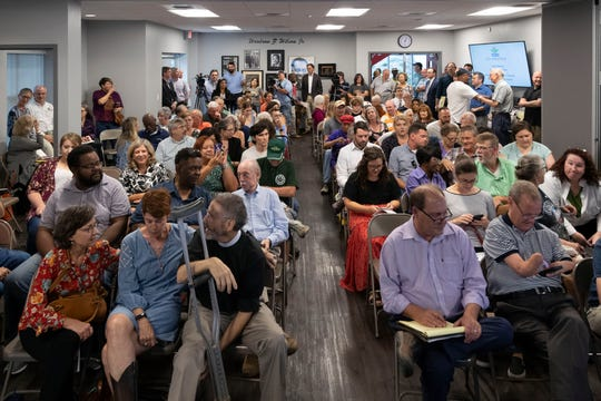 More than a 100 people attended public meeting on Monday, September 23, 2019 at the Knoxville Area Urban League headquarters on Volunteer Ministries proposal to build permanent supportive housing for homeless near Caswell Park.