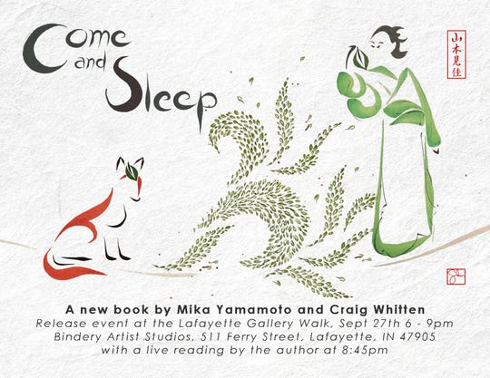 "The promotional image for Mika Yamamoto and Craig Whitten's illustrated book, ""Come and Sleep"". The book releases Friday."