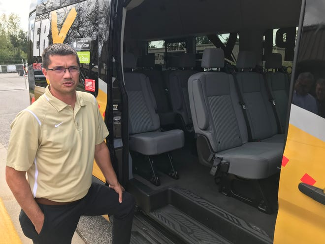 Ben Dispennett, Purdue's director of parking and transportation, talks about Leaper X, a new point-to-point, on-demand shuttle service being tested on the West Lafayette campus during the fall 2019 semester. The experiment, a university partnership with Cummins Inc. and Energy Systems Network, will replace a nightly CityBus service on campus and service to perimeter parts of campus during the day.