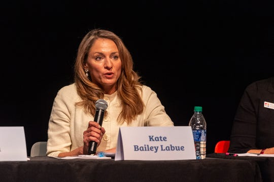 Kate Bailey Labue speaking at The Lafayette Parish School Board Candidate Forum at ACA. Monday, Sept. 23, 2019.