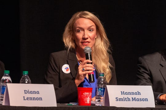 Hannah Smith Mason speaking at The Lafayette Parish School Board Candidate Forum at ACA. Monday, Sept. 23, 2019.