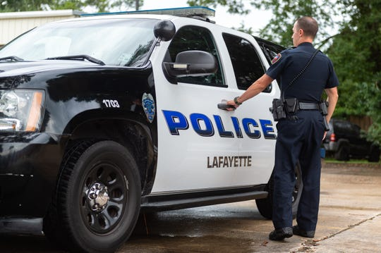 A Lafayette Police officer starts his patrol shift on Wednesday, Sept. 18, 2019. The department is seeking pay raises across the board to make the department more competitive and retain the officers it has.
