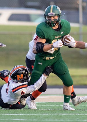 Howell running back Jonah Schrock has carried 73 times for 418 yards and seven touchdowns.